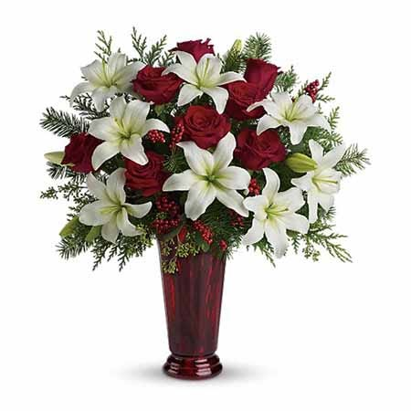 White lily bouquet with white flowers and cheap flowers from send flowers com