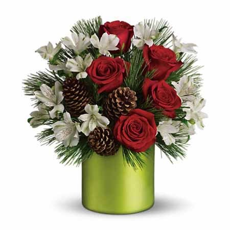 Send flowers Christmas bouquets paired with cheap flowers and free delivery
