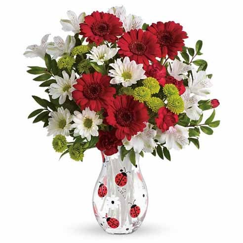 Easter gift ideas and Easter gifts for kids red daisy bouquet