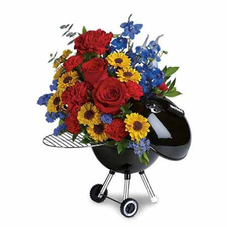 grill flower arrangement and online fathers day gifts delivery