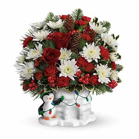 holiday bouquet with cheap flowers featured at send flowers com