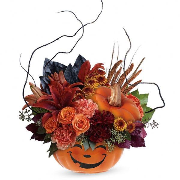 Spooktacular Surprise Pumpkin Bouquet