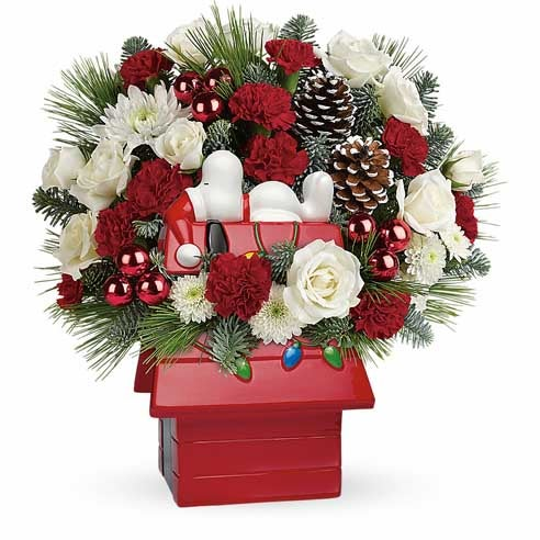 Snoopy christmas bouquet and charlie brown gift and charlie brown gifts