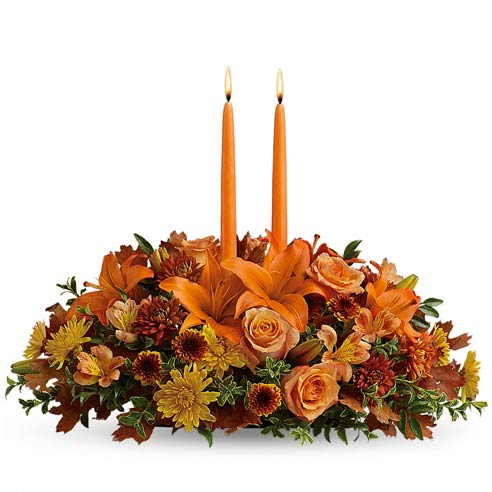 Same day flower delivery on centerpiece from send flowers online