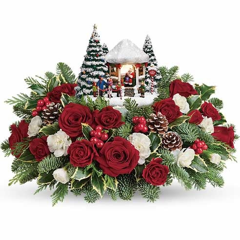 Thomas Kinkade Santa Collectible Arrangement