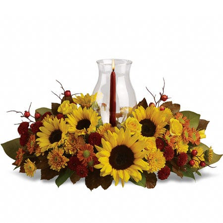 Sunflower Candle Centerpiece