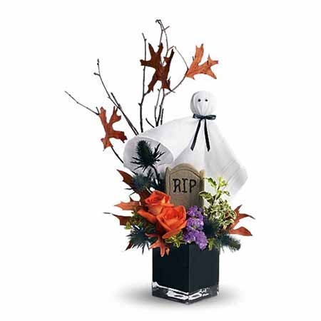 Halloween bouquet of discount flowers and cute ghost flower bouquet