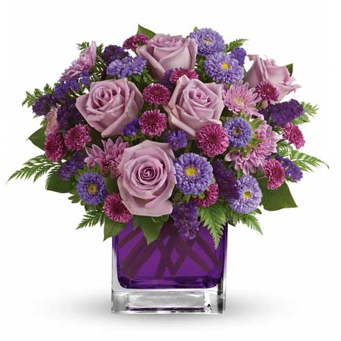 Purple Mothers Day bouquet lavender rose bouquet Mother's Day flower delivery