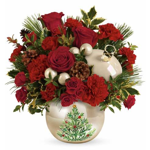 contemporary christmas flowers arrangement tree christmas ornament bouquet