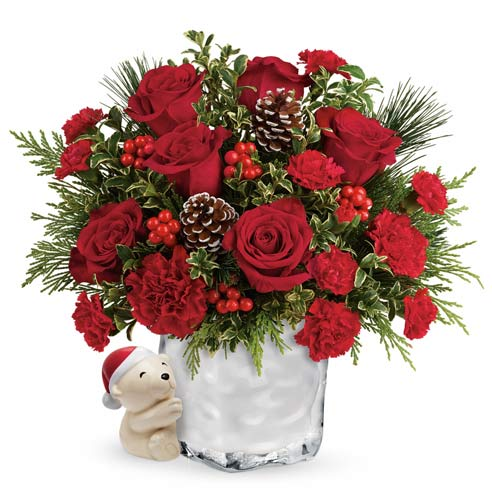 same day christmas flower delivery from send flowers usa