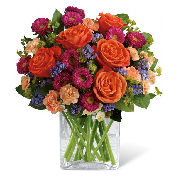 Orange mixed rose bouquet for cheap flowers free delivery at send flowers