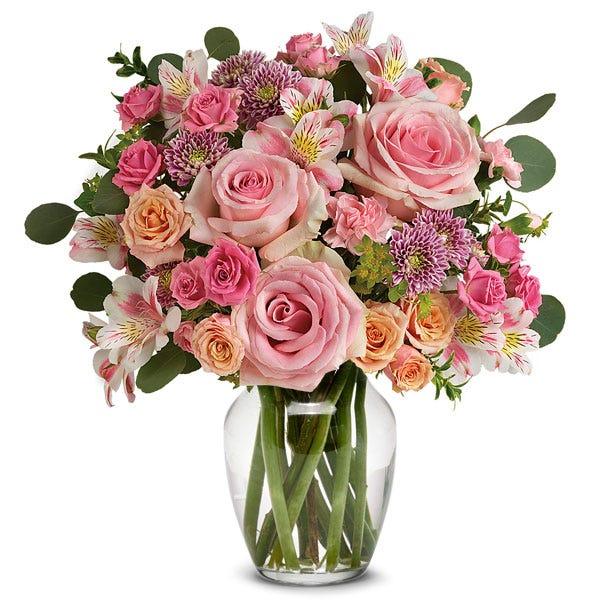 Blushing Rose Vintage Beauty Bouquet