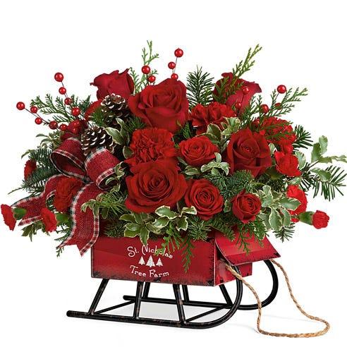 Merry Christmas Sleigh Bouquet
