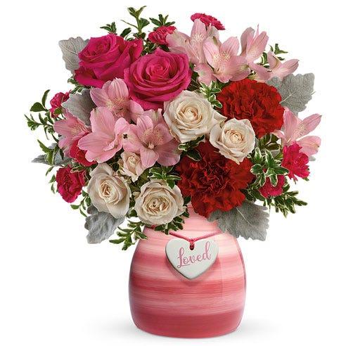 My Blushing Love Pink Rose Bouquet