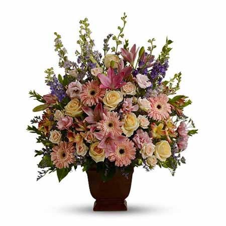 Pastel sympathy flowers, online flowers funeral flowers at send flowers