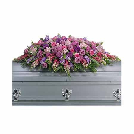 Caskets sprays at send flowers in this funeral flower arrangement