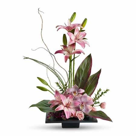 topiary garden delivery and pink lily flower topiary for sale