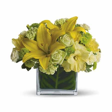Lily bouquet from send flowers with yellow lilies and roses