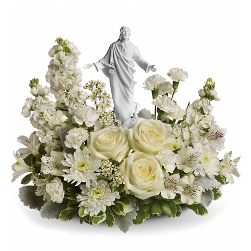 Flowers arrangement for funeral religious sympathy flowers delivery