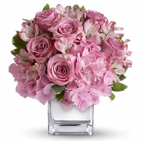 Pink alstroemeria bouquet of flowers for mother's day flowers delivery
