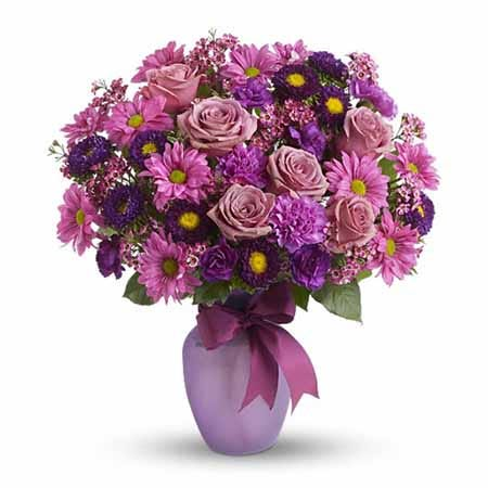 Purple roses cheap flowers with free flower delivery from SendFlowers