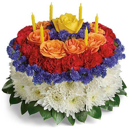 Sweet Celebration Floral Birthday Cake