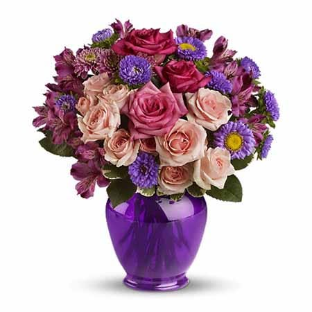 Buy purple flowers and purple flower bouquet from Send Flowers