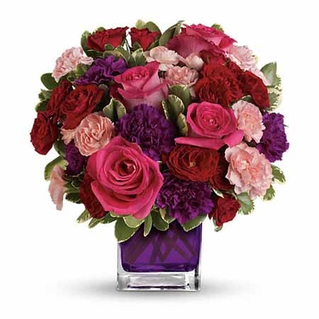 Purple bouquet with same day flower delivery from send flowers