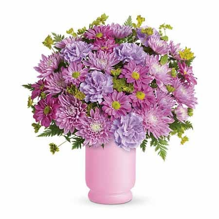 purple flowers arrangement at send flowers with cheap flowers in lavender