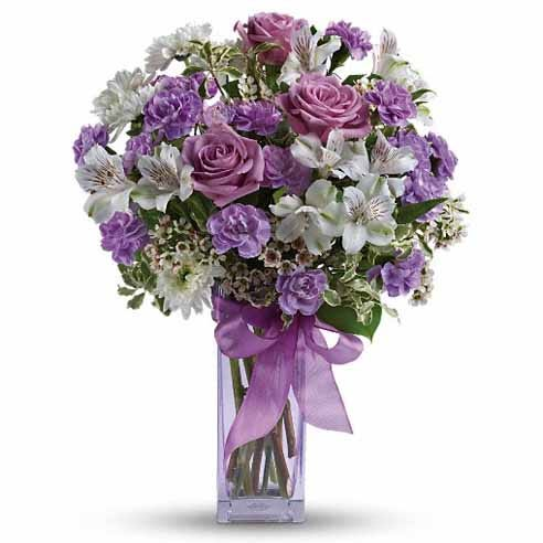 Lavender rose bouquet and same day lavender roses delivery with cheap flowers