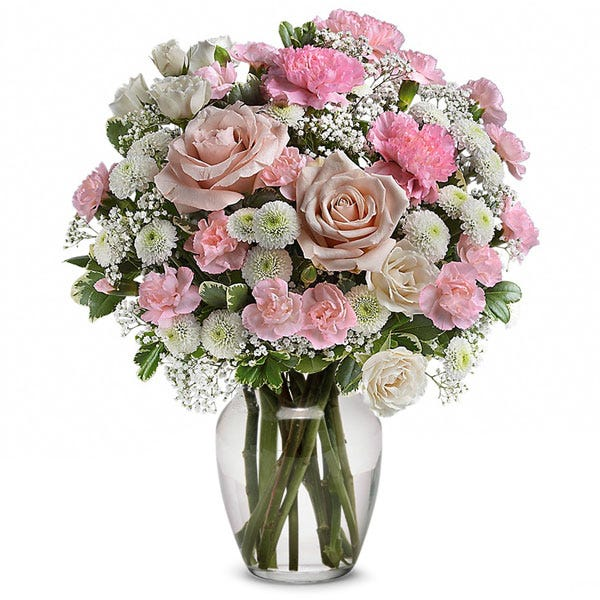 Get cheap flower delivery on pink rose bouquet from send flowers