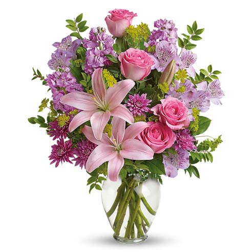 Mothers Day specialty flower vase delivery and Thomas Kinkade flower vase