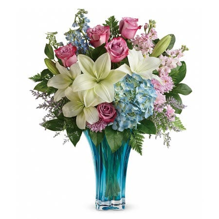 Premium flower bouquet and premium flowers in an ocean flower bouquet