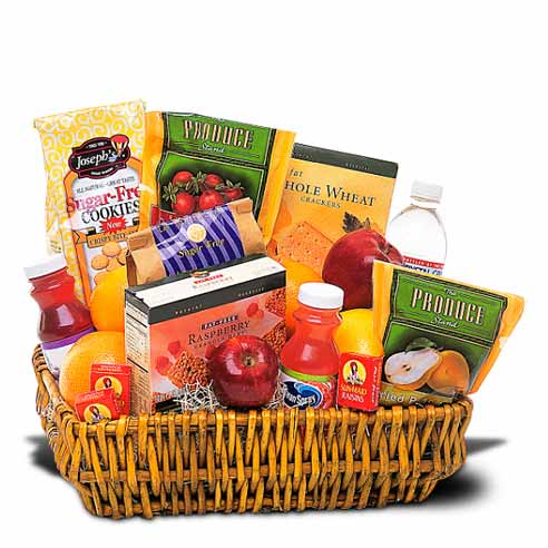 Happy Sweetest Day for him healthy gifts basket delivery same day