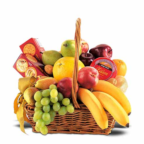 Luxury gift fruits basket for fathers day gift baskets free shipping