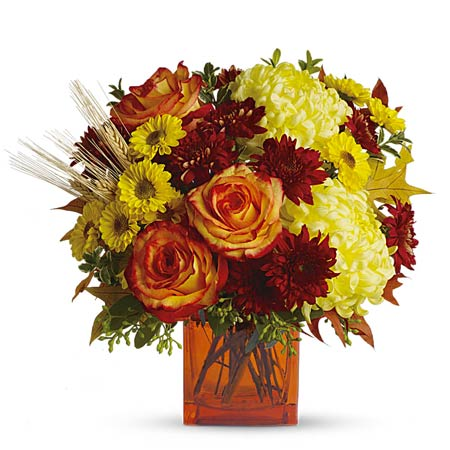 Fall flowers and halloween flower delivery with orange carnations