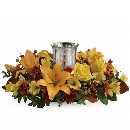 Rustic wedding centerpieces, orange flowers with cheap flowers from send flowers