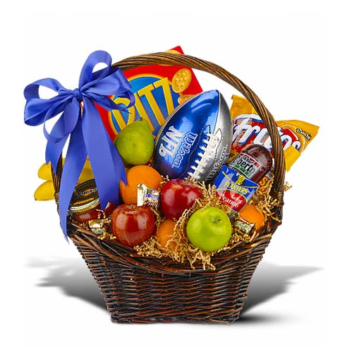 football themed gift baskets delivery at send flowers with football gift, fruits delivered and gifts
