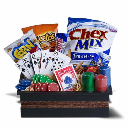 Ideas for Halloween gifts, poker gift basket
