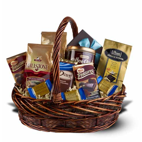 coffee and chocolate gift basket delivery at send flowers, cheap coffee and chocolate gift basket