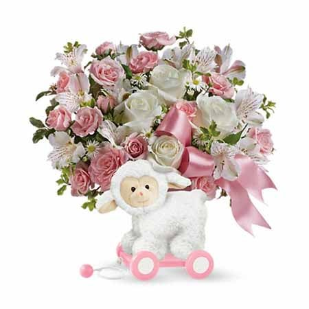 New baby flowers and Easter same day delivery baby gifts
