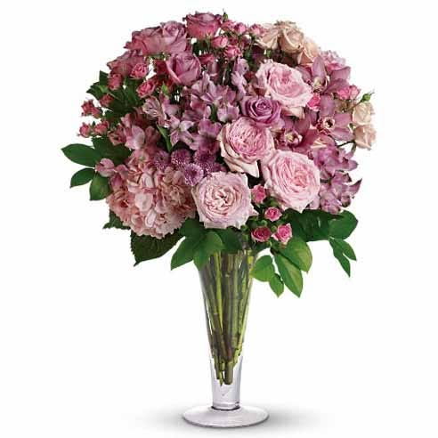 high end orchid centerpiece and premium rose bouquet delivery same day