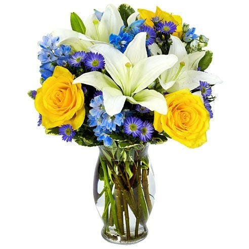 Blue Hues Flower Bouquet