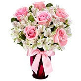 Singing Sweetly Pink Rose Bouquet