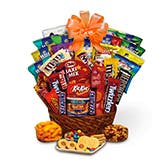 Candy Gift Basket - Orange Bow