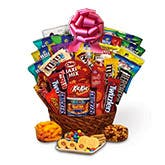 Sweet And Salty Gift Basket - Red Bow