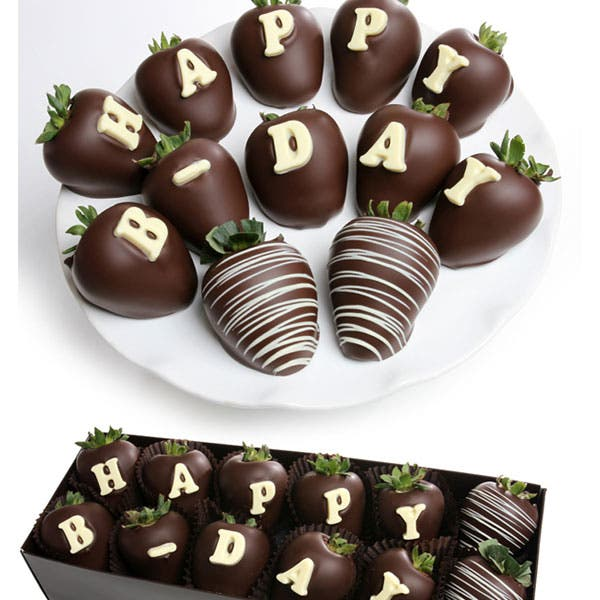 Happy Birthday Chocolate Covered Strawberry BerryGram
