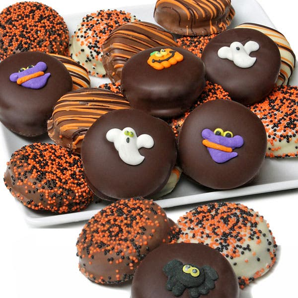 Halloween Chocolate Covered Oreo Cookies