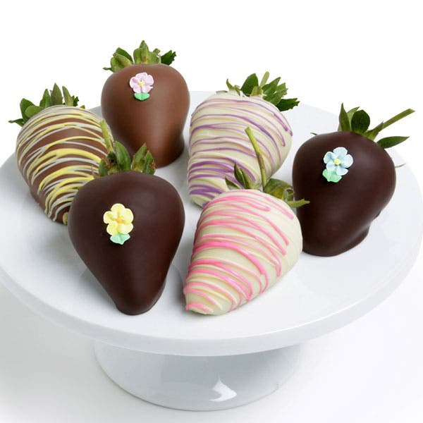 Chocolate Covered Spring Strawberries - 6 Pieces