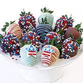 July 4th Chocolate Covered Strawberries